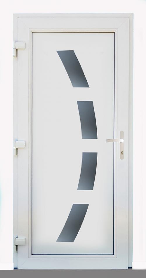 Műanyag Bejárati ajtók 3 rétegű üvegezéssel