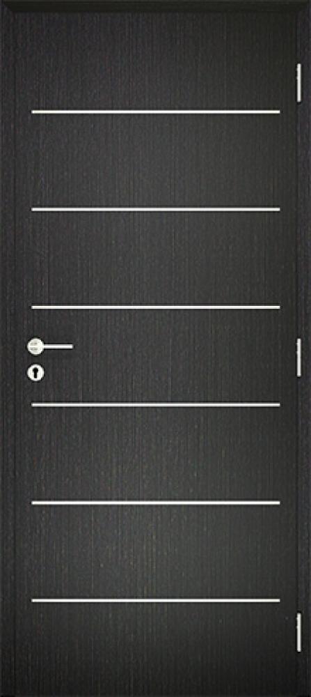 Dekorfóliás Alu Intarziás ajtó BLOKK tokkal