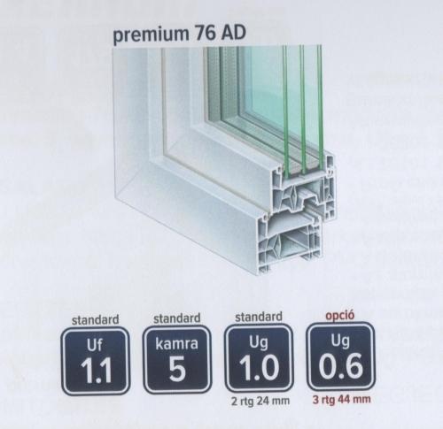 120x150 BNY ablak 3 rétegű üveggel