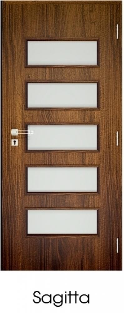 Dekorfóliás Üvegezett Beltéri ajtó Utólag szerelhető tokkal