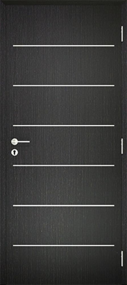 Dekorfóliás Alu Intarziás ajtó BLOKK tokkal A line 4