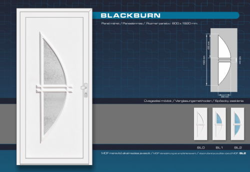 Kömmerling Blackburn Műanyag Bejárati Ajtó