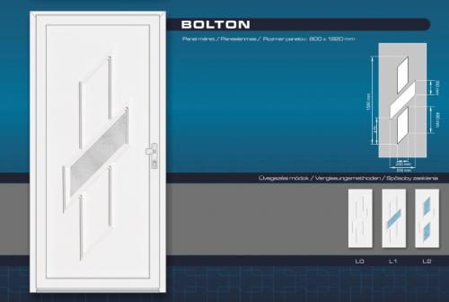 Kömmerling Bolton Műanyag Bejárati Ajtó