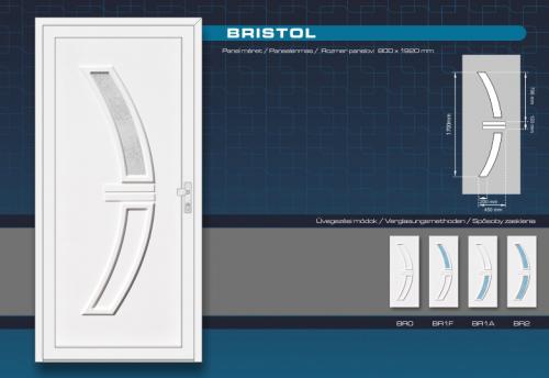 Kömmerling Bristol Műanyag Bejárati Ajtó