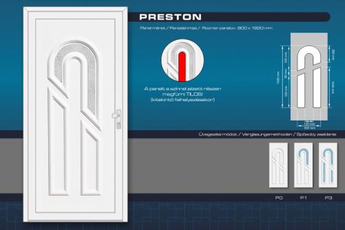 Kömmerling Preston Műanyag Bejárati Ajtó