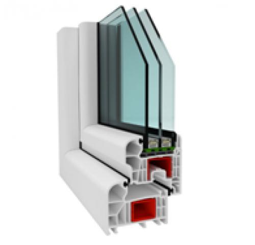 SPECTRUM ablak 3rétegű üvegezéssel 90x120